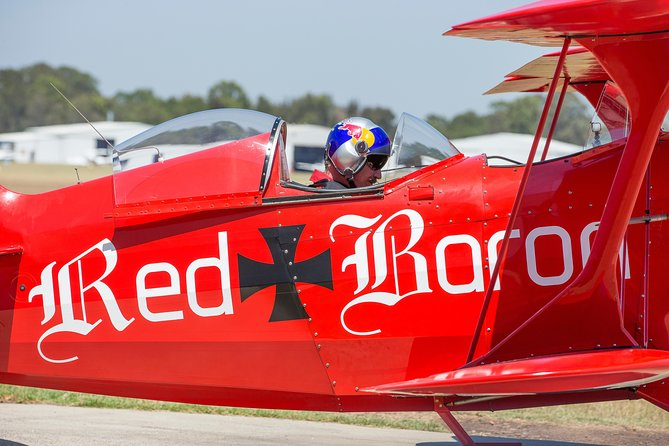 Intense Aerobatic Experience in the Open Canopy Red Baron Pitts Special