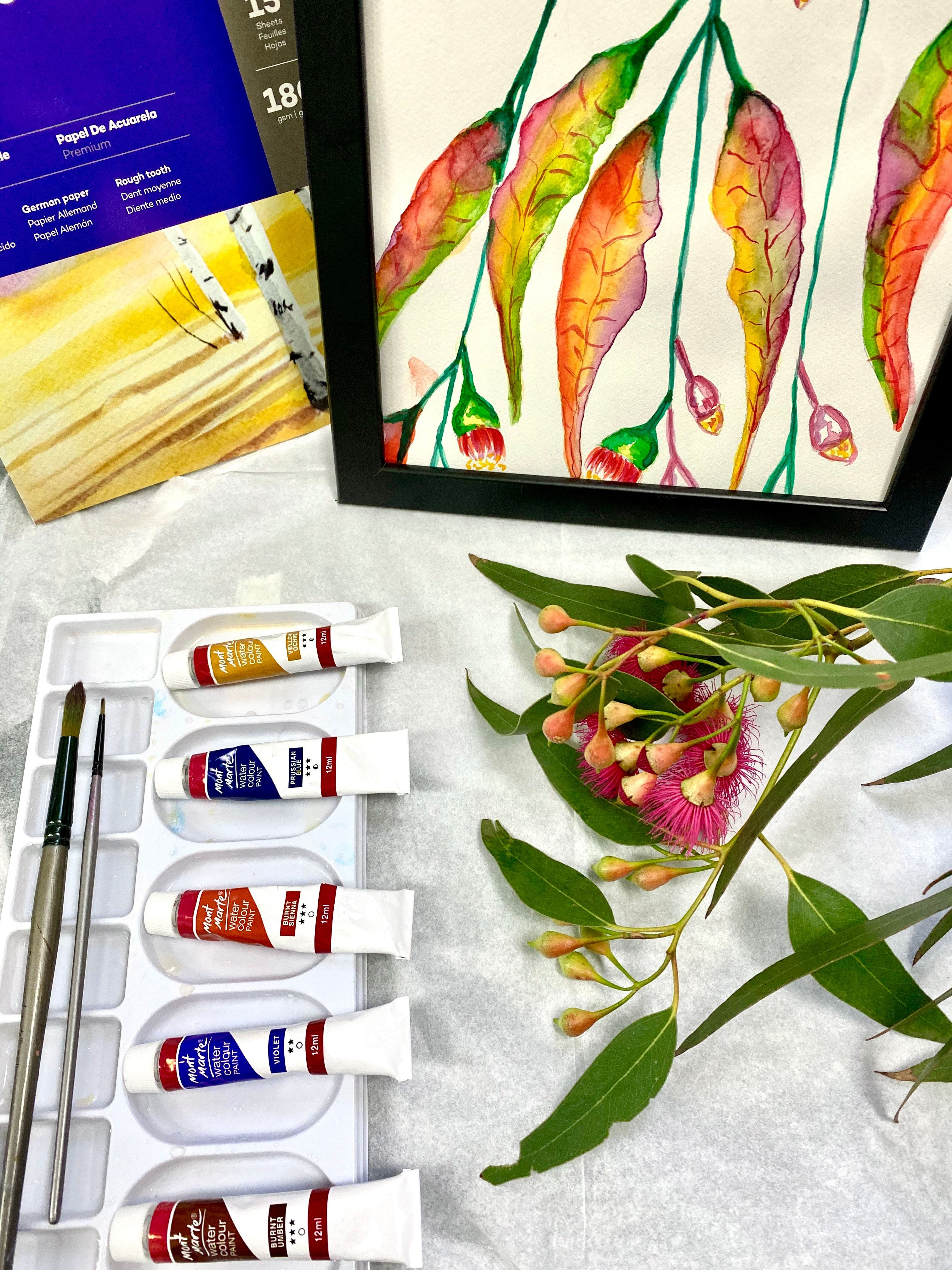 Watercolour Paint & Sip Class: Eucalyptus Leaves